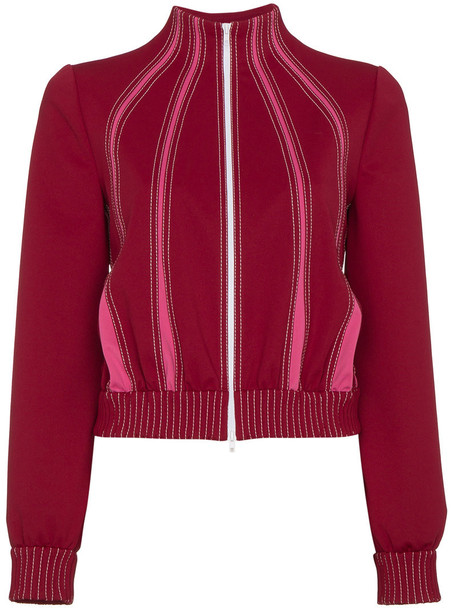 Valentino jacket women spandex red