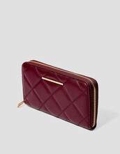 zip,quilted,purse,burgundy,bag