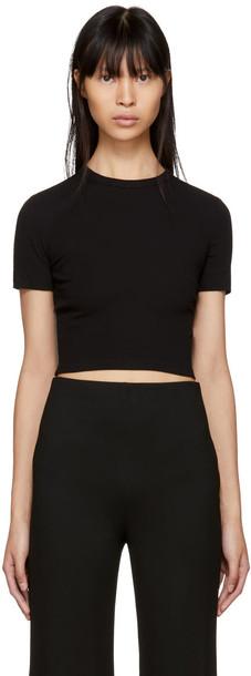 Rosetta Getty t-shirt shirt cropped t-shirt t-shirt cropped black top