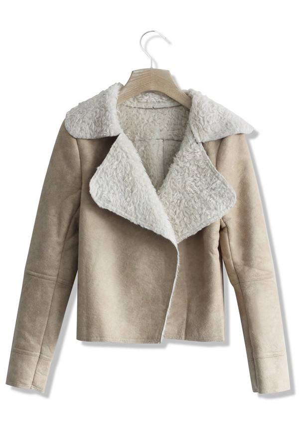 jacket chicwish matted camel shearing