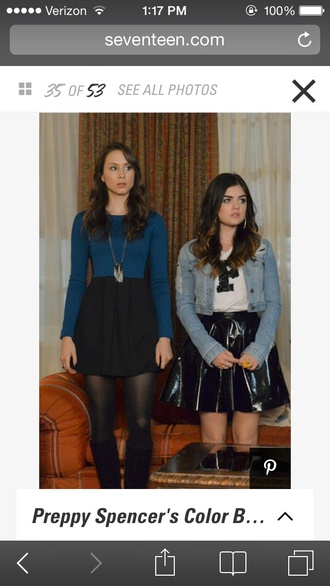 skirt leather black skirt pll aria