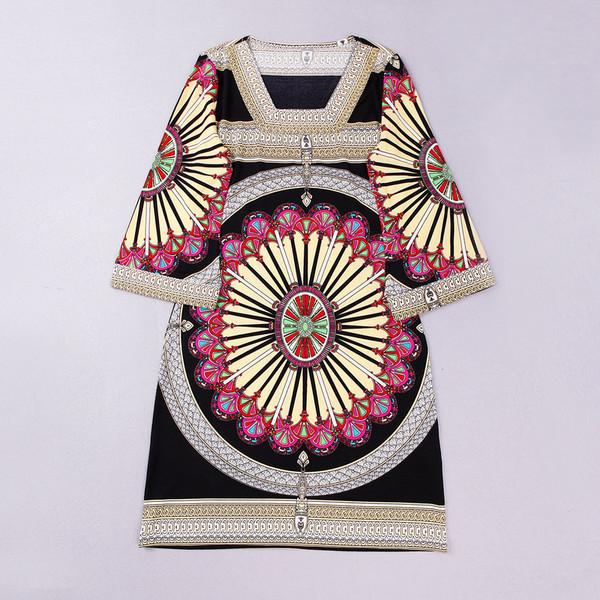 dress print half sleeve loose 2014 new