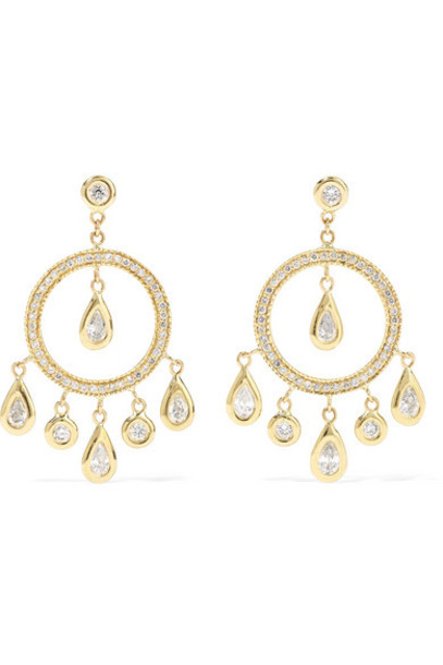 Jacquie Aiche - 14-karat Gold Diamond Earrings