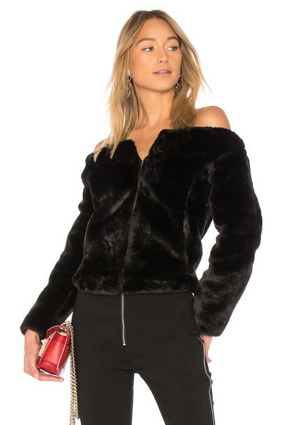 Endless Rose jacket faux fur jacket fur jacket fur faux fur black