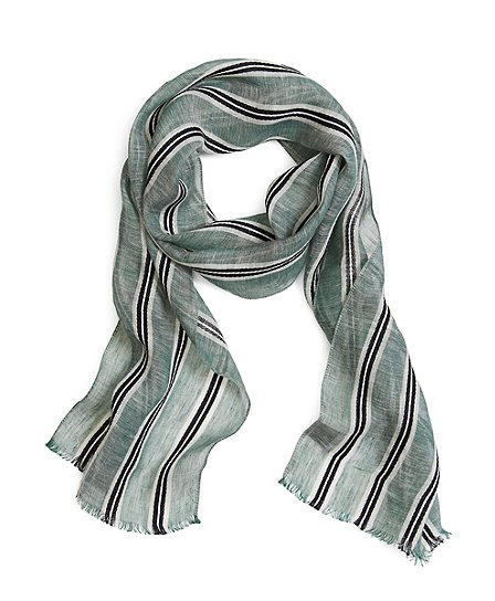 WIDE STRIPE SCARF - Brooks Brothers