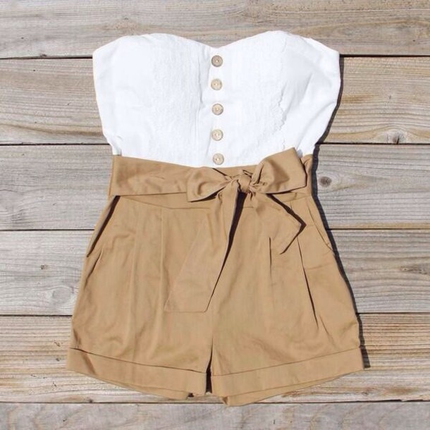 shorts romper summer outfits