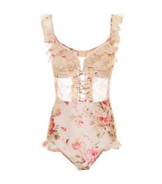 Zimmermann lace pink swimwear