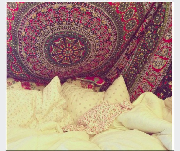 top: tapestry, decoration, bedroom, bedroom, boho, mandala