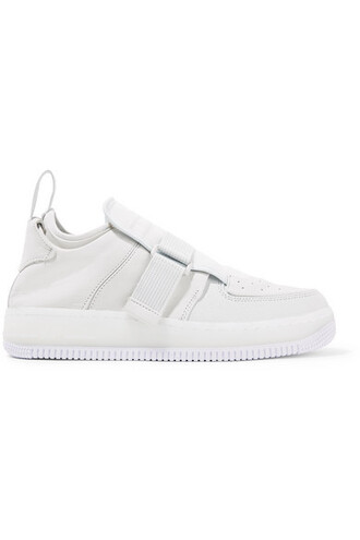 sneakers leather white suede off-white shoes