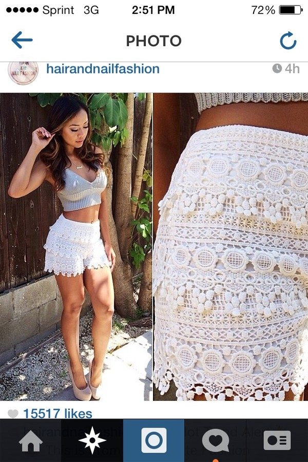 shorts lace up lace lace shorts shirt top