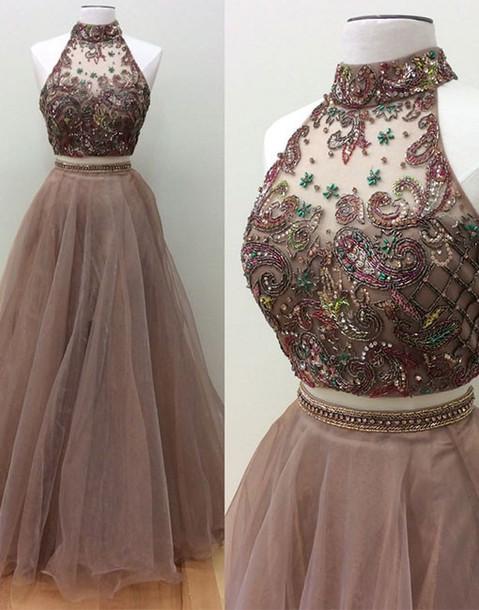 cfa0574702 dress 2017 long prom dress 2017 two piece prom dress long two piece prom  dresses long