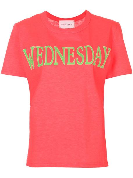 Alberta Ferretti t-shirt shirt t-shirt fluo women cotton purple pink top