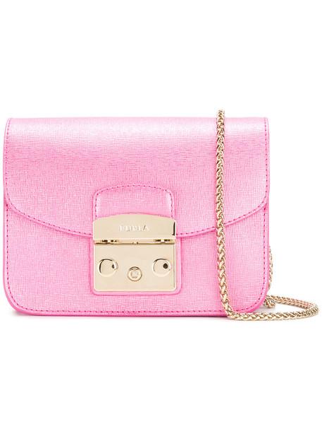 cross mini women bag leather purple pink