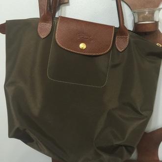 bag longchamp green army green handbag