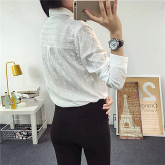 shirt cotton shirt women blouse long sleeve shirt long sleeve shirts spring shirt spring shirts spring white shirts women shirt women shirts white shirt vertical stripes
