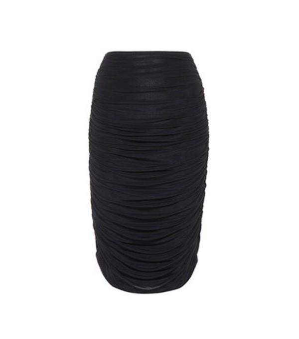 Norma Kamali Gathered skirt in black