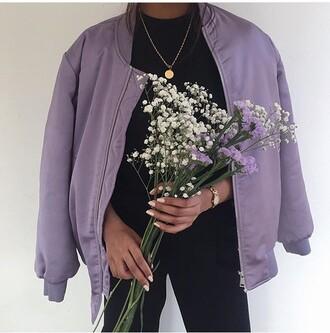 jacket bomber jacket purple bomber purple purple jacket style fashion mauve veste mode h&m beautiful