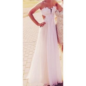 dress white lace prom love prom dress lace white bag