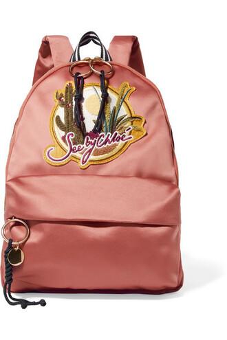backpack cotton blush bag