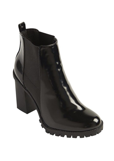 shoes chunky gloss chelsea boots