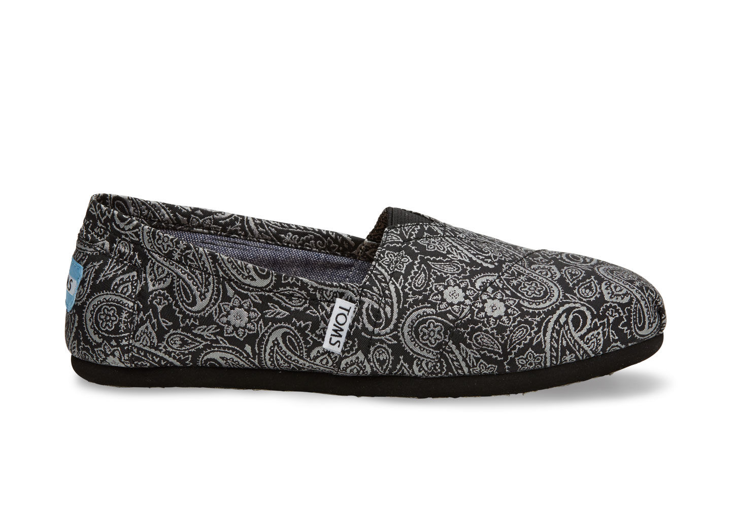Black and Silver Paisley Women's Classics | TOMS