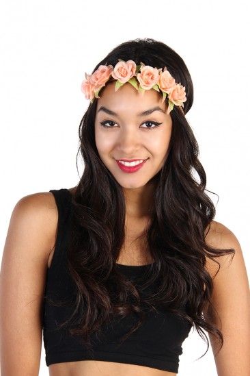 LoveMelrose.com From Harry & Molly | Flower Headband - Coral