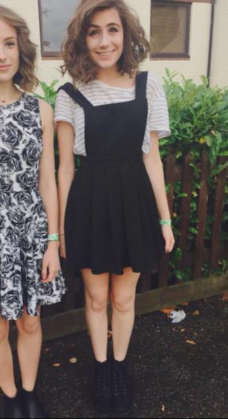 dress pinafore pinafore dress dungarees dodie dodie clark doddleoddle skater dress black dress overalls