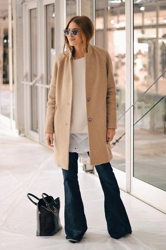 maja wyh blogger camel coat oversized sweater wide-leg pants
