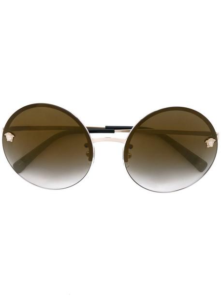 VERSACE metal women sunglasses nude