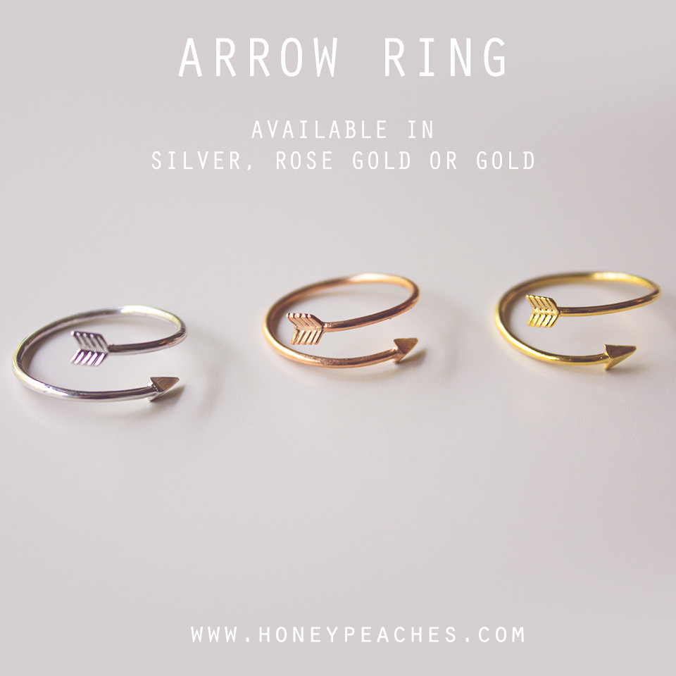 Arrow ring – honey peaches