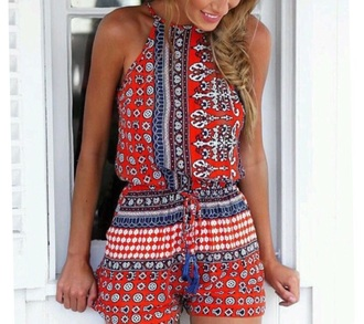 romper summer outfits red