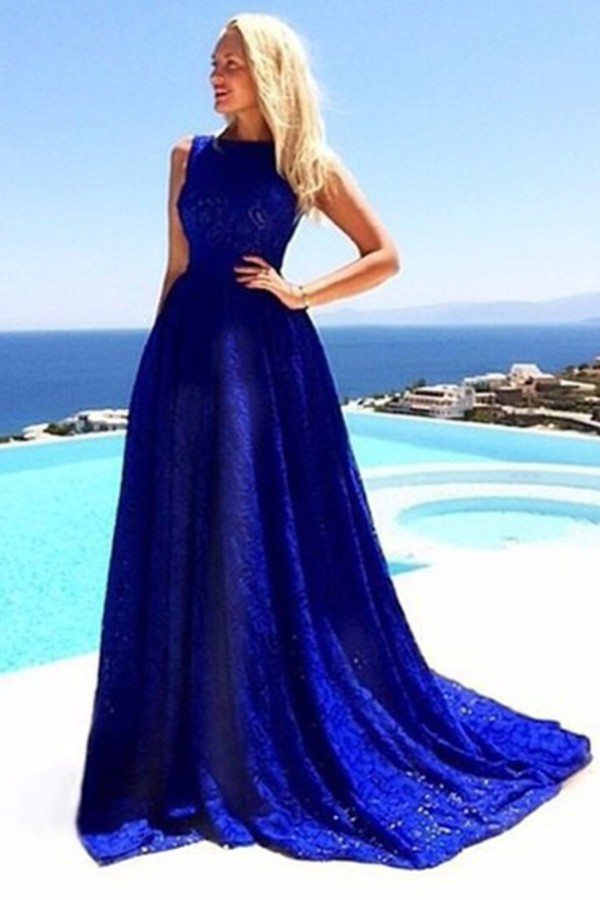 Dress: blue, maxi dress, long, trendy, beautiful, trendy, style ...