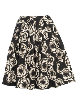 skirt white black