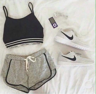 top calvin klein bra nike shoes shorts