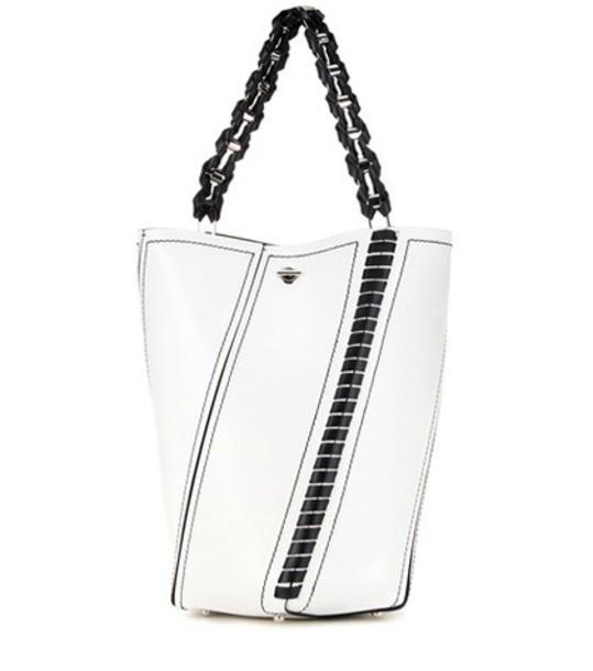 Proenza Schouler bag bucket bag leather white