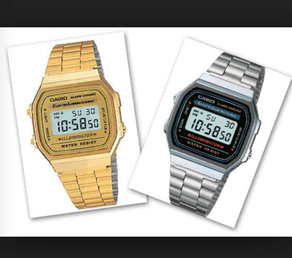 97d8f56bf984 Amazon.com  CASIO The Medium Digital Watch in Gold  Casio  Watches