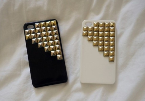 jewels iphone iphone cover fashion white black nails