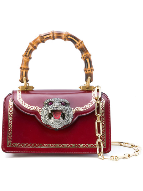 gucci satchel mini women leather red bag