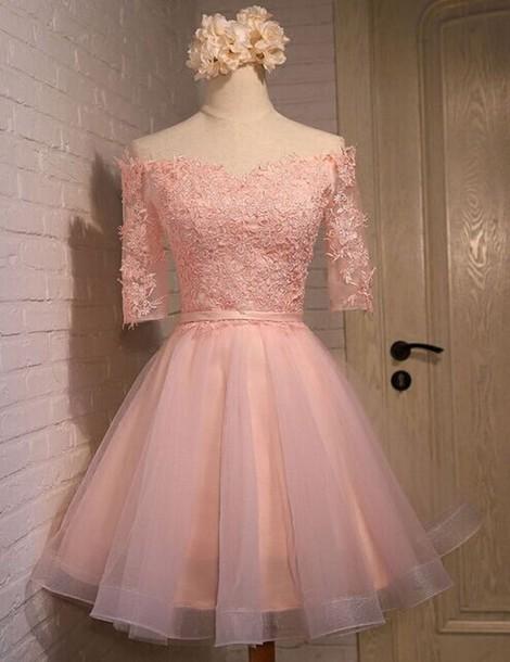 e831015731f dress pink homecoming dresses half sleeve homecoming dresses lace homecoming  dresses beautiful homecoming dresses cheap homecoming