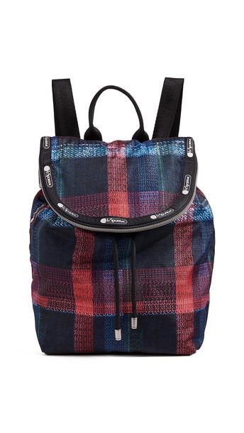 backpack plaid bag
