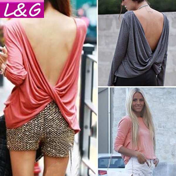 Aliexpress.com : buy new 2015 fashion women blouses hot selling casual long sleeve v back blusas femininas plus size shirt women clothing tops 40196 from reliable blouse flower suppliers on ladies&gentlemen