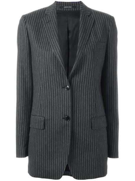 TAGLIATORE blazer women spandex wool grey jacket