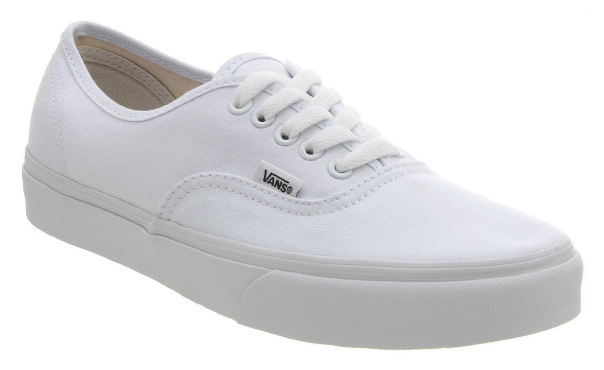 Vans Authentic True White Trainers Shoes | eBay