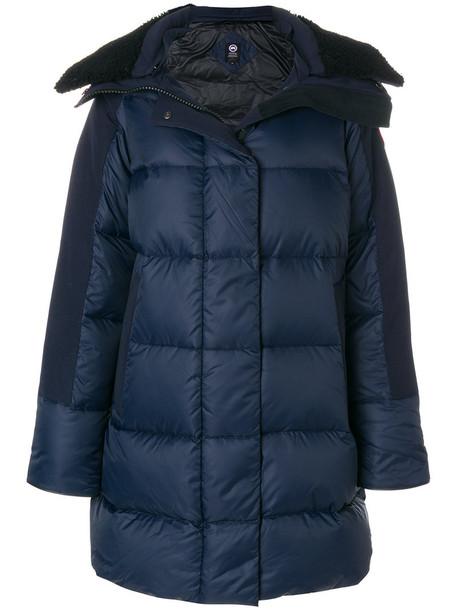 canada goose coat women cotton blue