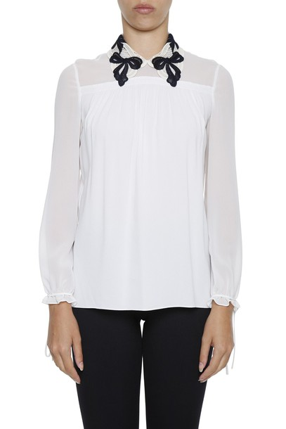 Miu Miu blouse lace top