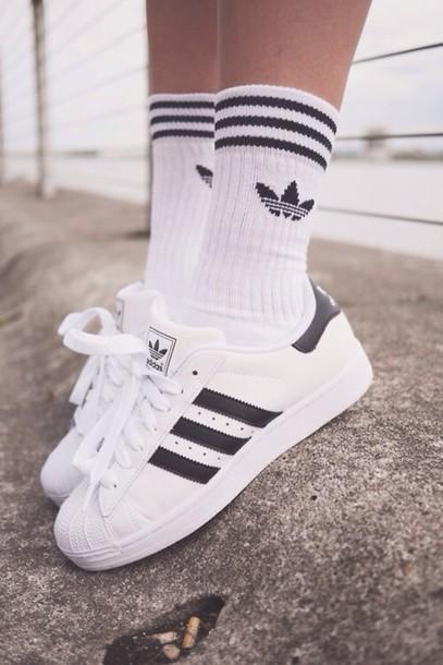 socks, shoes, adidas - Wheretoget