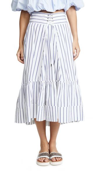 skirt victorian navy white
