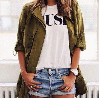 jacket green jacket coat blouse green tumblr jacket