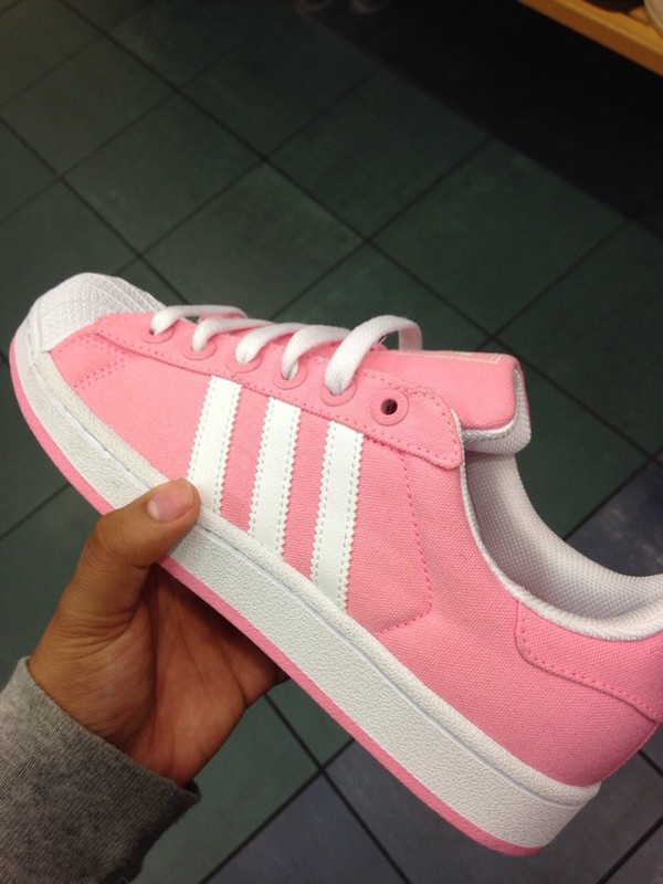 Adidas Superstar White And Pink