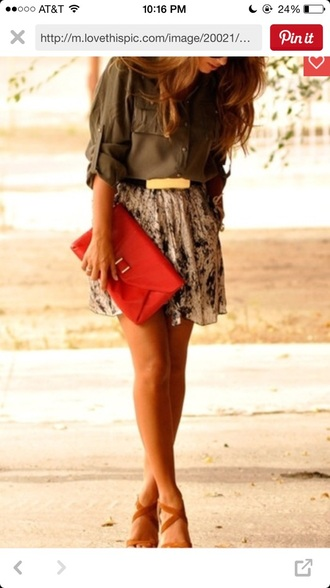 skirt floral skirt flowy skirt style